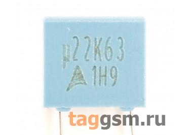 B32529C0224K000 Конденсатор плёночный 0,22 мкФ 63В