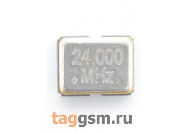 Кварцевый генератор 24 МГц 3,3В (SMD3225)