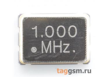 Кварцевый генератор 1 МГц 3,3В (SMD5070)