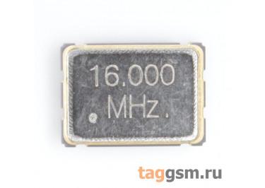 Кварцевый генератор 16 МГц 3,3В (SMD5070)