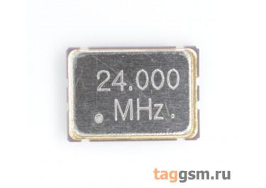 Кварцевый генератор 24 МГц 3,3В (SMD5070)