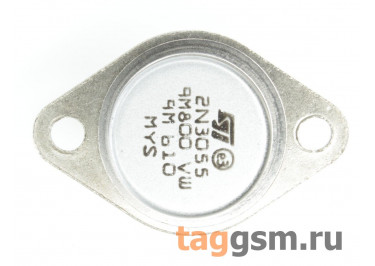 2N3055 (TO-3) Биполярный транзистор NPN 60В 15А