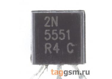 2N5551 (TO-92) Биполярный транзистор NPN 160В 0,6A
