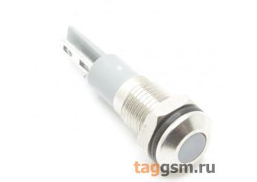 Светодиодный индикатор на панель D=8мм 12-24В металл (Белый)