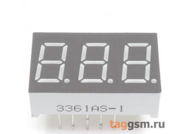 3361AS (Красный) Цифровой индикатор 0,36