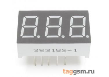 3361BS (Красный) Цифровой индикатор 0,36