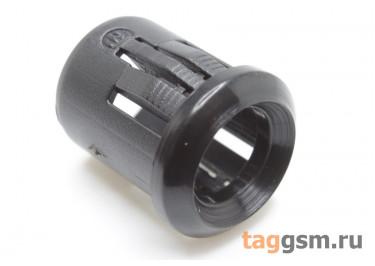 Держатель светодиода 8мм пластик (Чёрный)