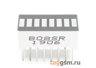 B0-8SR (Красный) Светодиодный индикатор 8 сегментов