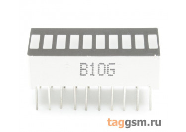 B10G (Jade-зелёный) Светодиодный индикатор 10 сегментов