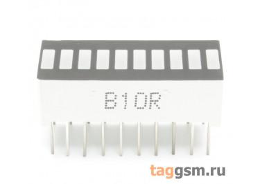 B10R (Красный) Светодиодный индикатор 10 сегментов