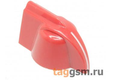 A-2019 / R Ручка пластиковая 19x18,3мм под ось 6,35мм + винт (Красный)