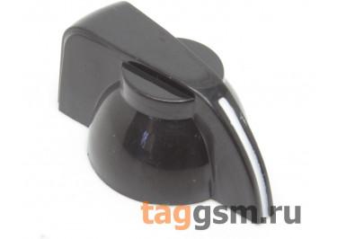 K7-1 / B Ручка пластиковая 19,5x13,5мм под ось 6,35мм + винт (Черный)