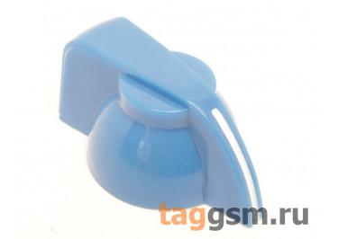 K7-1 / BL Ручка пластиковая 19,5x13,5мм под ось 6,35мм + винт (Синий)
