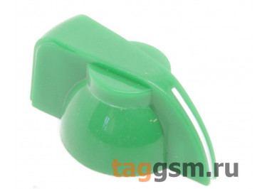 K7-1 / G Ручка пластиковая 19,5x13,5мм под ось 6,35мм + винт (Зеленый)