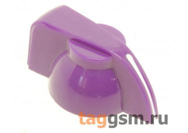 K7-1 / PU Ручка пластиковая 19,5x13,5мм под ось 6,35мм + винт (Фиолетовый)