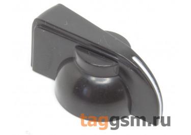 K7-1-18T / B Ручка пластиковая 19,5x13,5мм под ось 6мм 18T (Черный)