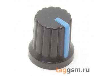 KA485-4 / BL Ручка пластиковая 15x15мм под ось 6мм 18T (Синий)