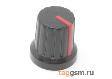 KA485-4 / R Ручка пластиковая 15x15мм под ось 6мм 18T (Красный)