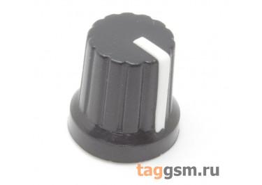 KA485-4 / W Ручка пластиковая 15x15мм под ось 6мм 18T (Белый)