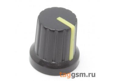 KA485-4 / Y Ручка пластиковая 15x15мм под ось 6мм 18T (Желтый)