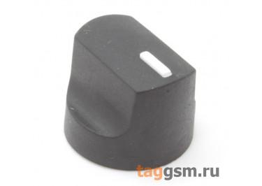 KN-1041 Ручка пластиковая с резиновым покрытием 17,6x14мм под ось 6мм 18T (Черный)