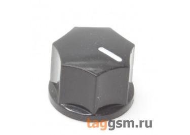 KN-1250 / B Ручка пластиковая 15x10,5мм под ось 6,35мм + винт (Черный)