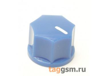 KN-1250 / BL Ручка пластиковая 15x10,5мм под ось 6,35мм + винт (Синий)
