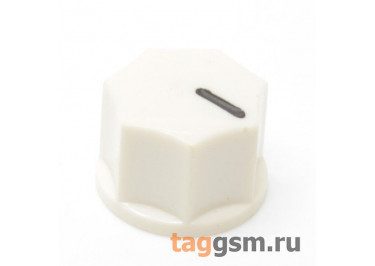 KN-1250 / CR Ручка пластиковая 15x10,5мм под ось 6,35мм + винт (Кремовый)