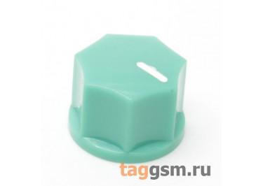 KN-1250 / G Ручка пластиковая 15x10,5мм под ось 6,35мм + винт (Зеленый)