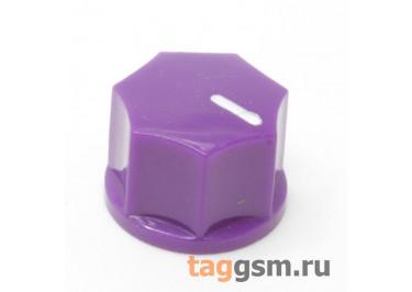 KN-1250 / PU Ручка пластиковая 15x10,5мм под ось 6,35мм + винт (Фиолетовый)