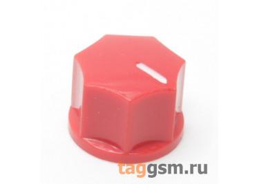 KN-1250 / R Ручка пластиковая 15x10,5мм под ось 6,35мм + винт (Красный)