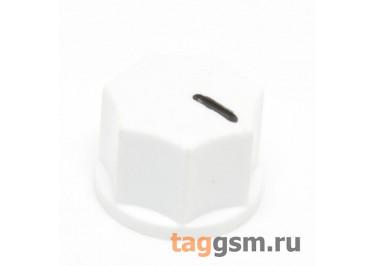 KN-1250 / W Ручка пластиковая 15x10,5мм под ось 6,35мм + винт (Белый)