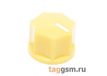 KN-1250 / Y Ручка пластиковая 15x10,5мм под ось 6,35мм + винт (Желтый)