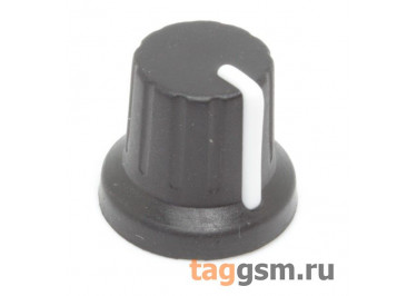 KN-1615 Ручка пластиковая с резиновым покрытием 16,5x14мм под ось 6мм 18T (Черный)