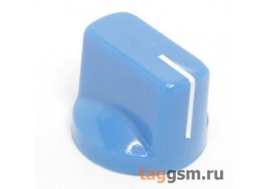 KN-19 / BL Ручка пластиковая 19x15мм под ось 6,35мм + винт (Синий)