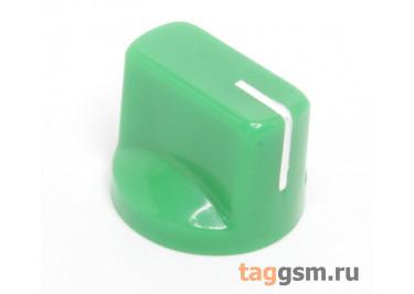 KN-19 / G Ручка пластиковая 19x15мм под ось 6,35мм + винт (Зеленый)
