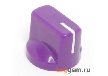 KN-19 / PU Ручка пластиковая 19x15мм под ось 6,35мм + винт (Фиолетовый)