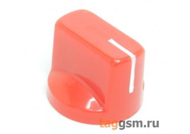 KN-19 / R Ручка пластиковая 19x15мм под ось 6,35мм + винт (Красный)