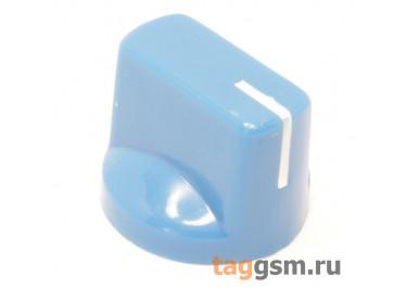 KN-19-18T / BL Ручка пластиковая 19x15мм под ось 6мм 18T (Синий)