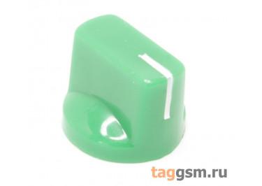 KN-19-18T / G Ручка пластиковая 19x15мм под ось 6мм 18T (Зеленый)