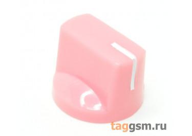KN-19-18T / PI Ручка пластиковая 19x15мм под ось 6мм 18T (Розовый)