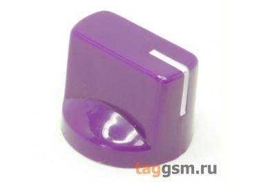 KN-19-18T / PU Ручка пластиковая 19x15мм под ось 6мм 18T (Фиолетовый)