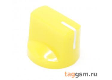 KN-19-18T / Y Ручка пластиковая 19x15мм под ось 6мм 18T (Желтый)