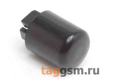 CTS-12S-01O / B Толкатель черный круглый для тактовой кнопоки 12х12 (9Х10мм)