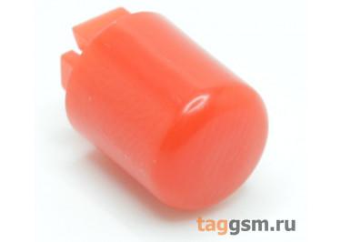 CTS-12S-01O / R Толкатель красный круглый для тактовой кнопоки 12х12 (9Х10мм)