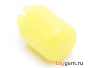 CTS-12S-01O / Y Толкатель желтый круглый для тактовой кнопоки 12х12 (9Х10мм)