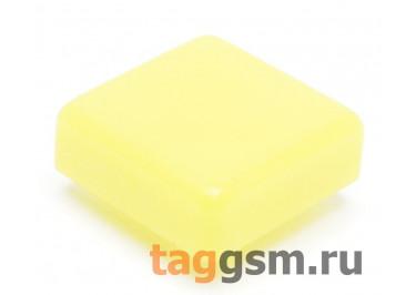 CTS-12S-01S / Y Толкатель желтый квадратный для тактовой кнопки 12х12 (12х12х4мм)