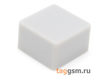 CTS-12S-02S / GR Толкатель серый квадратный для тактовой кнопки 12х12 (9х9х5мм)