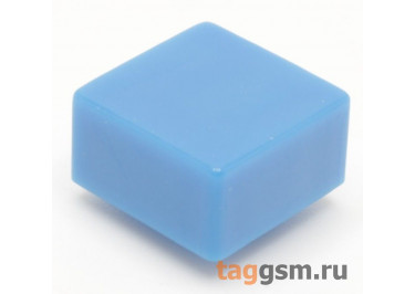 CTS-12S-03S / BL Толкатель синий квадратный для тактовой кнопки 12х12 (9,2х9,2х4,8мм)
