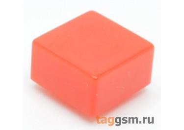 CTS-12S-03S / R Толкатель красный квадратный для тактовой кнопки 12х12 (9,2х9,2х4,8мм)